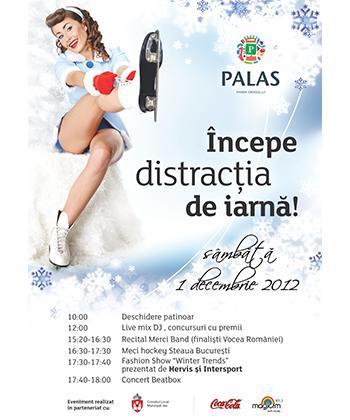 Pe 1 Decembrie se inaugurează la Palas singurul patinoar din Iași