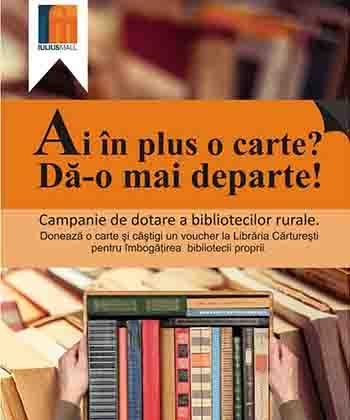 Ai în plus o carte? Iulius Mall Suceava te invită să o dai mai departe