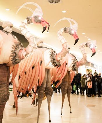 Creaturi gigantice, apariții misterioase, iluzii optice și oferte la cumpărături - surprizele pentru aniversarea celor 10 ani de Iulius Mall