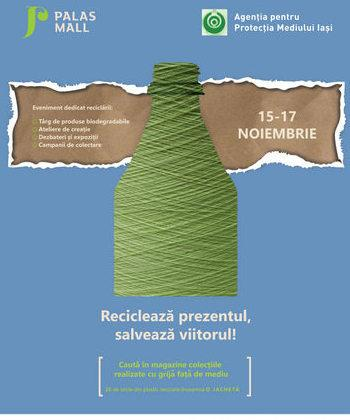 Trei zile dedicate mediului, la Palas: ateliere și dezbateri despre ecologie și expoziții cu materiale reciclate