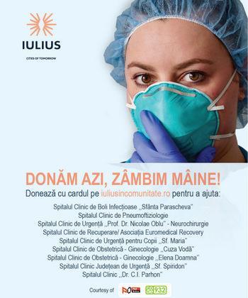 """""""Donăm azi, zâmbim mâine"""" - nouă spitale ieșene au nevoie de ajutorul tău!"""